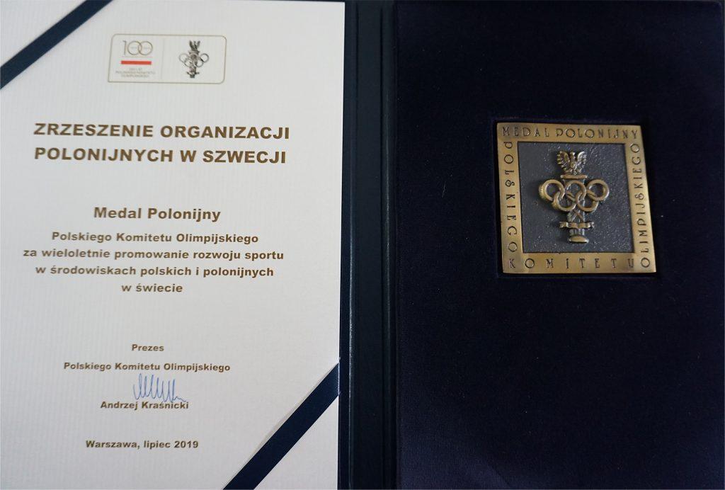 Zrzeszenie Organizacji Polonijnych w Szwecji uhonorowane przez Polski Komitet Olimpijski