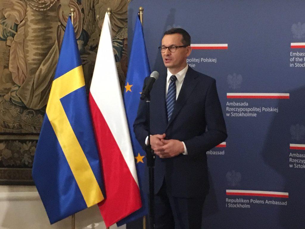 Premier Mateusz Morawiecki w Sztokholmie
